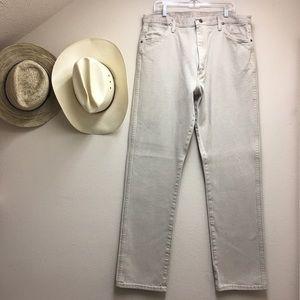 Wrangler Men's 13MWZ TAN Cowboy Cut Jeans 38x36